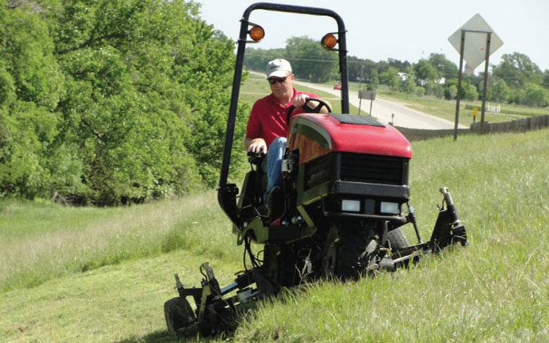 Photo Showing Specialized Mowing Equipment for Steep Slope and Rough Terrain Mowing